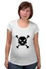 """Футболка для беременных """"Pixel Art Skull"""" - skull, череп, pixel art, пиксельарт, pixelart, пиксельная графика"""