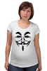 "Футболка для беременных ""Anonymous"" - anonymous, анонимус, гай фокс, guy fawkes, маска вендетта"