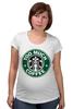 """Футболка для беременных """"Too Much Coffee"""" - пародия, starbucks, parody, слишком много кофе"""