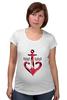 """Футболка для беременных """"Красный якорь"""" - море, якорь, anchor, sailor"""