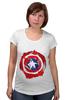 """Футболка для беременных """"Captain America """" - капитан америка, captain america"""