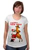 "Футболка для беременных ""Happy New Year"" - праздник, happy new year, новый год, санта, олень, deer, santa"
