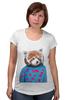 """Футболка для беременных """"Красная панда"""" - арт, red, девушке, panda, animal, красная панда, dressed"""