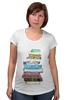 """Футболка для беременных """"для студентов"""" - книги, books, для студентов, для школьников, книгоман"""