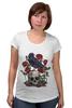 """Футболка для беременных """"Череп и ворон"""" - skull, арт, авторские майки, black, red, tattoo, тату, розы, raven, roses"""