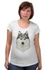 """Футболка для беременных """"хаски"""" - собака, иллюстрация, хаски, акварель, husky"""