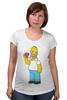 """Футболка для беременных """"Homer Simpsons"""" - прикольные"""