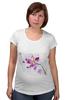 """Футболка для беременных """"Розовая орхидея"""" - акварель, орхидея, розовый цветы"""