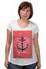 "Футболка для беременных ""Je t'aime"" - любовь, море, якорь, anchor"