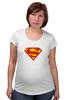 "Футболка для беременных ""Супермен"" - comics, супермен, superman"