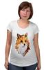 """Футболка для беременных """"Poly Fox"""" - fox, лиса, полигоны"""