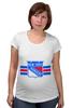 """Футболка для беременных """"Нью-Йорк Рейнджерс"""" - хоккей, nhl, нхл, rangers, нью-йорк рейнджерс"""