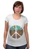 "Футболка для беременных ""Pacific"" - арт, peace, пацифизм"