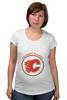 "Футболка для беременных ""Calgary Flames"" - хоккей, nhl, нхл, калгари флеймз, calgary flames"