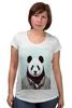"""Футболка для беременных """"Деловая панда"""" - медведь, мишка, панда, panda, крутая"""