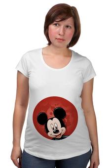 """Футболка для беременных """"Микки Маус мультяшный герой"""" - микки маус, мультяшка, mikki maus, мышонок микки, мультипликационный герой"""