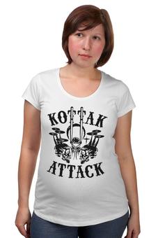 """Футболка для беременных """"Kottak (ударник группы Scorpions)"""" - heavy metal, hard rock, scorpions, хеви метал, kottak"""