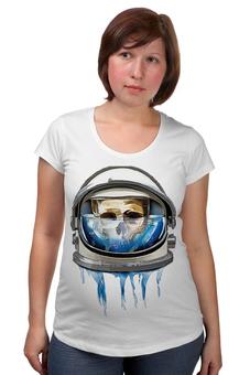 """Футболка для беременных """"Dead Astronaut"""" - skull, череп, космос, astronaut, dead, cosmos, шлем, космонавт"""