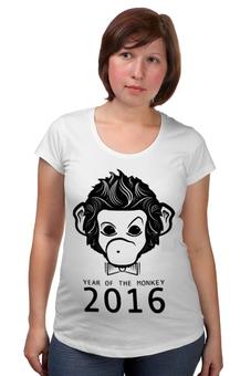 """Футболка для беременных """"Год Обезьяны"""" - новый год, обезьяна, monkey, 2016, год обезьяны"""