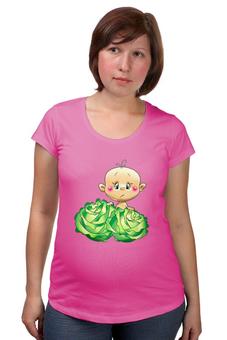 """Футболка для беременных """"Ребёнок в капусте """" - новорождённый"""