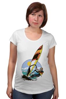 """Футболка для беременных """"Спортсмен..Отдых...Пляж..Море"""" - спортсмен, море, beach"""