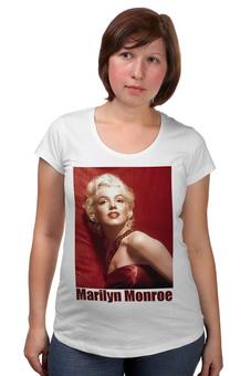 """Футболка для беременных """"Marilyn Monroe red"""" - девушки, marilyn monroe, актрисы, kinoart, мэрелин монро"""