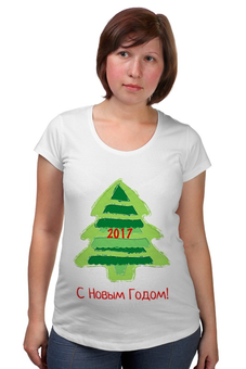 """Футболка для беременных """"С Новым Годом! 2017"""" - новый год, подарки, ёлка, 2017, новый год 2017"""