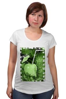 """Футболка для беременных """"Яблочный микс"""" - напиток, абстракция, яблоко, фрукт, натюрморт"""