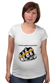 """Футболка для беременных """"старая школа-2"""" - old school, старая школа, футболки с надписями, купить футболку мужскую, мужские футболки москва"""