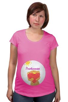 """Футболка для беременных """"Любовь"""" - любовь, мама, сердце"""