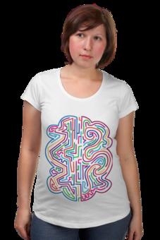 """Футболка для беременных """"Узор цветной."""" - арт, авторские майки, стиль, рисунок, футболка женская, павел петров арт"""