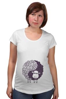 """Футболка для беременных """"Барашек"""" - рисунок, барашек, sheep"""