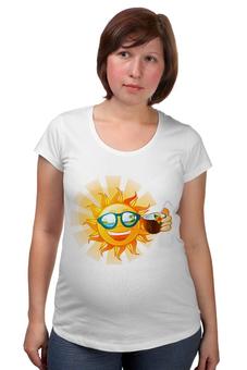 """Футболка для беременных """"Отпускная"""" - солнце, пляж, отпуск, кокос, коктейль"""