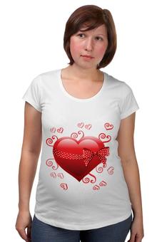 """Футболка для беременных """"Сердце"""" - день св валентина, валентинка, сердце"""