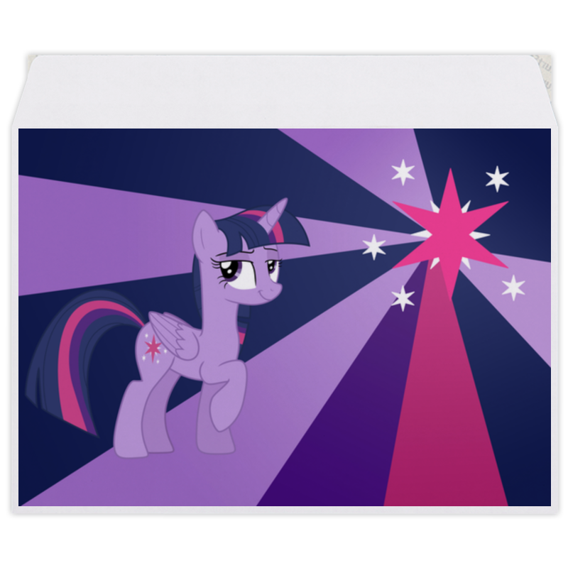 Конверт средний С5 Printio Twilight sparkle color line