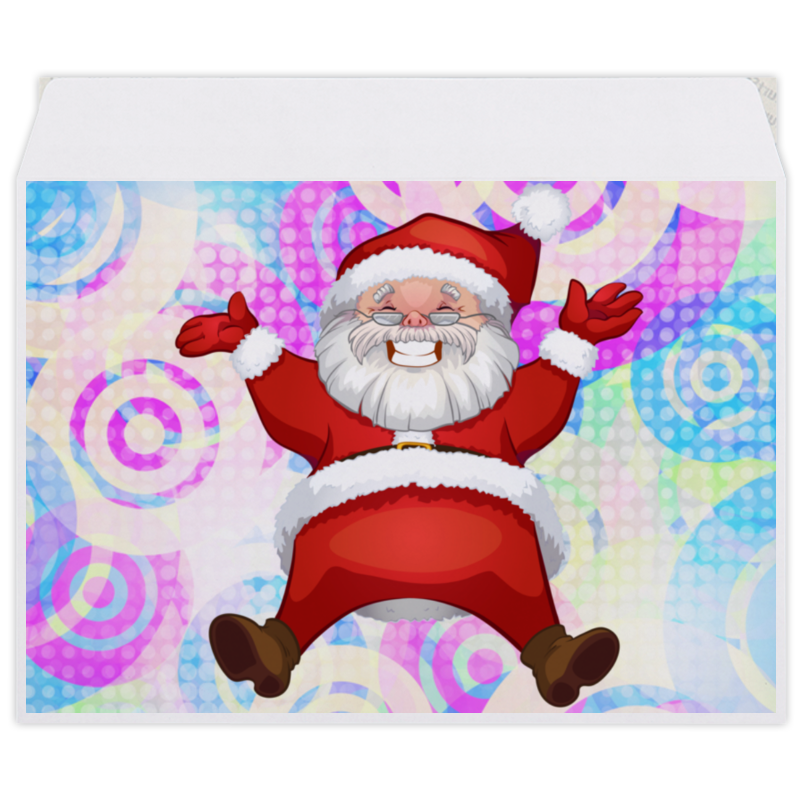 Конверт средний С5 Printio Санта клаус недорого