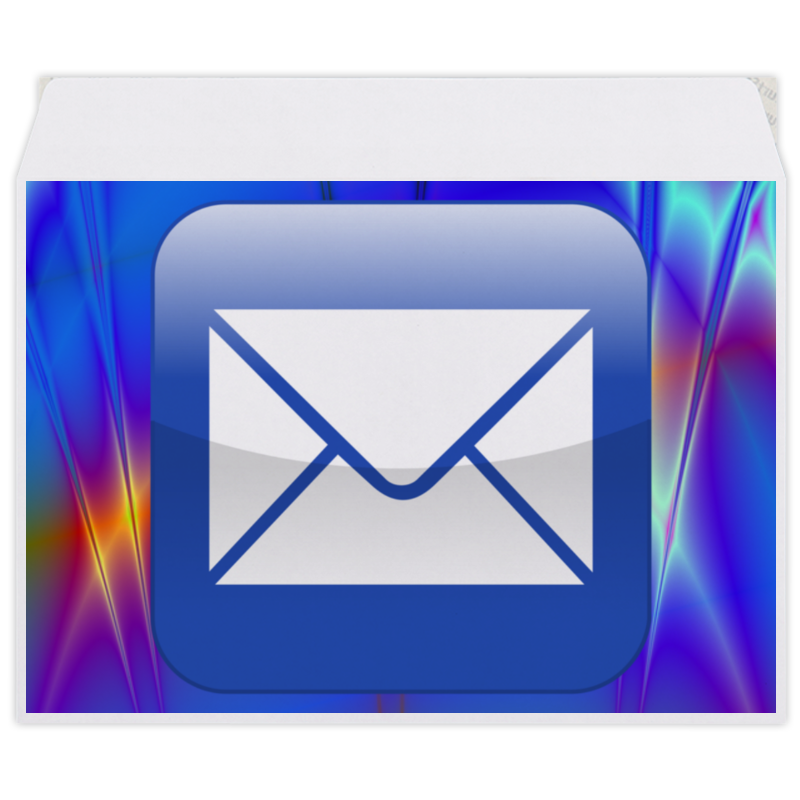 Конверт средний С5 Printio E mail конверт средний с5 printio розовые розы