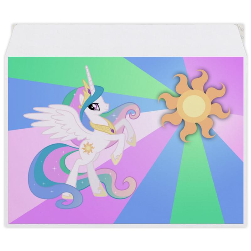 Конверт средний С5 Printio Princess celestia color line плакат a3 29 7x42 printio princess celestia color line