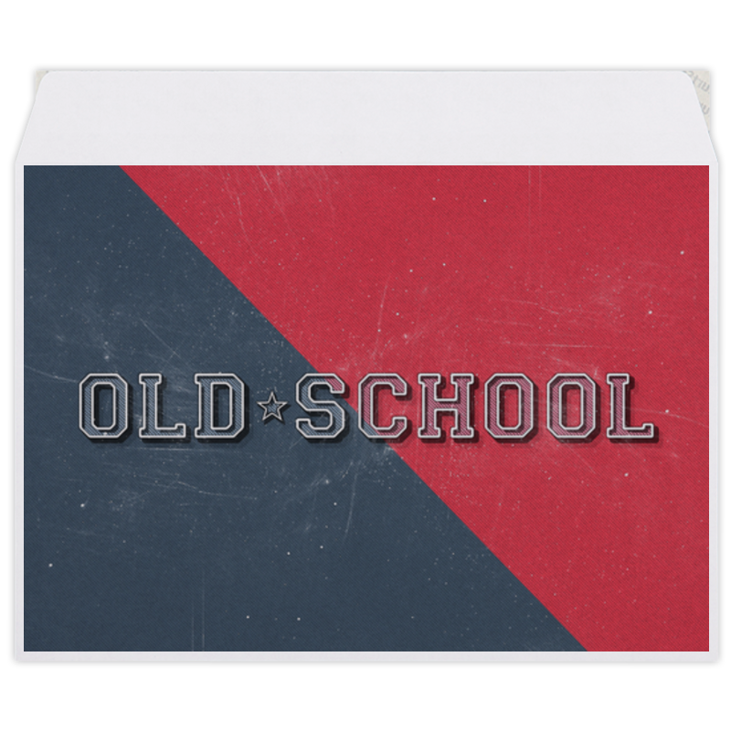 Конверт средний С5 Printio Old school style лонгслив printio anchor old school