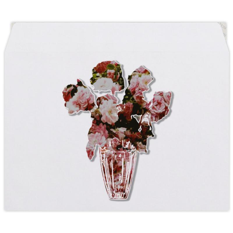 Конверт средний С5 Printio Весенний букет роз букет букет окошко в лето в коробке