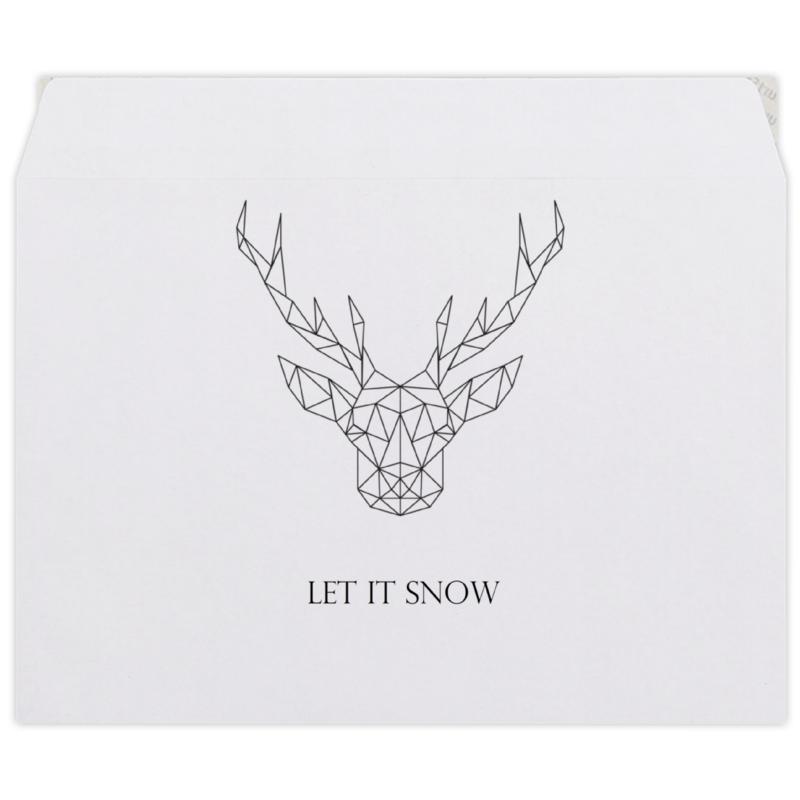 Конверт средний С5 Printio Dear deer конверт средний с5 printio сова в наушниках