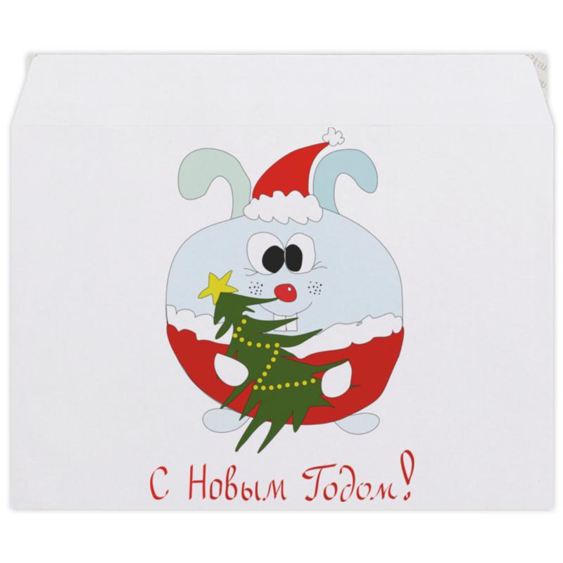 Конверт средний С5 Printio Новогодний заяц тетрадь на пружине printio новогодний заяц