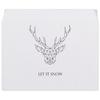 """Конверт средний С5 """"Dear Deer"""" - рисунок, дизайн, олень, минимализм, рога"""