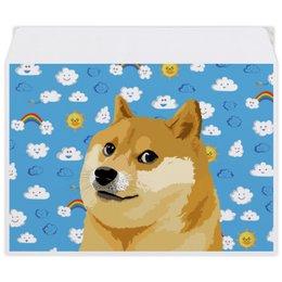 "Конверт средний С5 ""DOGE DOGE"" - мем, dog, собака, meme, doge"