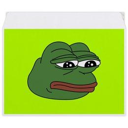 """Конверт средний С5 """"Грустная лягушка"""" - мем, meme, грустная лягушка, sad frog, pepe frog"""
