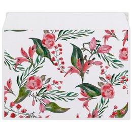 """Конверт средний С5 """"Цветы на белом"""" - цветы, роза, листья, природа, пион"""