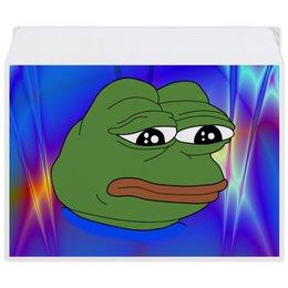 """Конверт средний С5 """"Pepe Frog"""" - мем, грустная лягушка, sad frog, pepe frog, pepe the frog"""