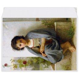 "Конверт средний С5 ""Маленькая вязальщица (картина Вильяма Бугро)"" - картина, девочка, академизм, живопись, бугро"