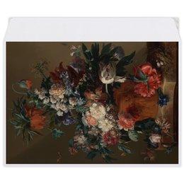"Конверт средний С5 ""Ваза с цветами (Ян ван Хёйсум)"" - цветы, картина, живопись, натюрморт, ян ван хёйсум"