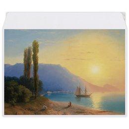 """Конверт средний С5 """"Закат в Ялте (картина Айвазовского)"""" - картина, пейзаж, живопись, крым, айвазовский"""